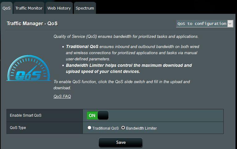 مدیریت پهنای باند شبکه با  Qos